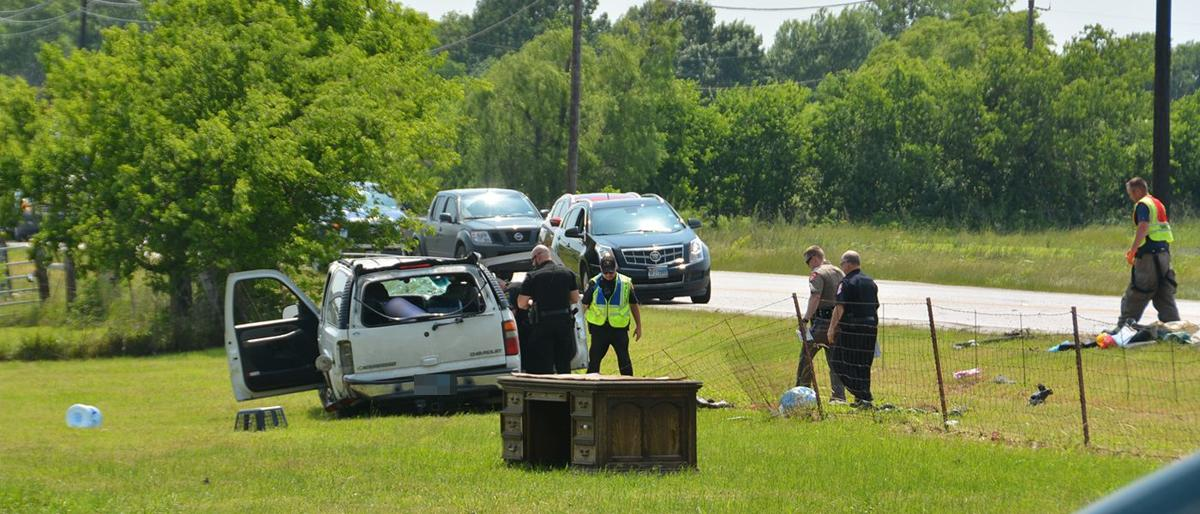 FM 740 reopened following rollover crash, child airlifted | Local ...