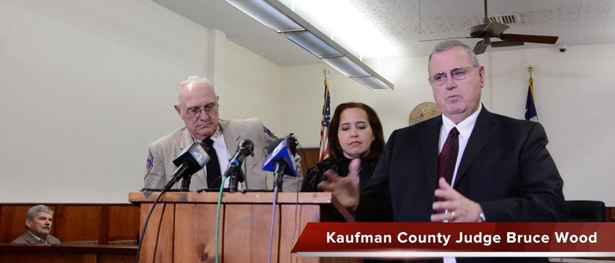 Kaufman County officials hold press conference following