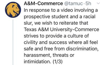 Texas A&M-Commerce Tweet