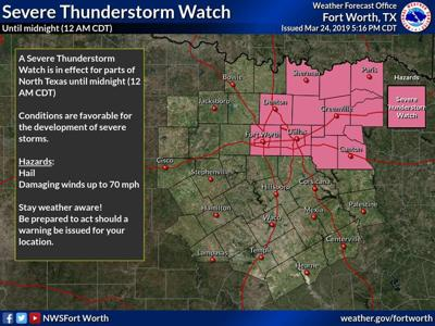severe thunderstorm watch for kaufman county until midnight local news. Black Bedroom Furniture Sets. Home Design Ideas