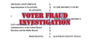 Terrell ISD Voter Fraud