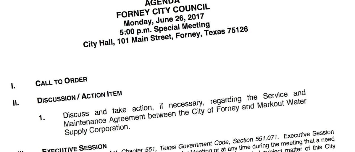 Forney City Council Calls Special Meeting On Housekeeping Of
