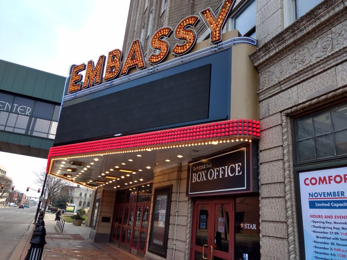 New marquee at Embassy Theatre