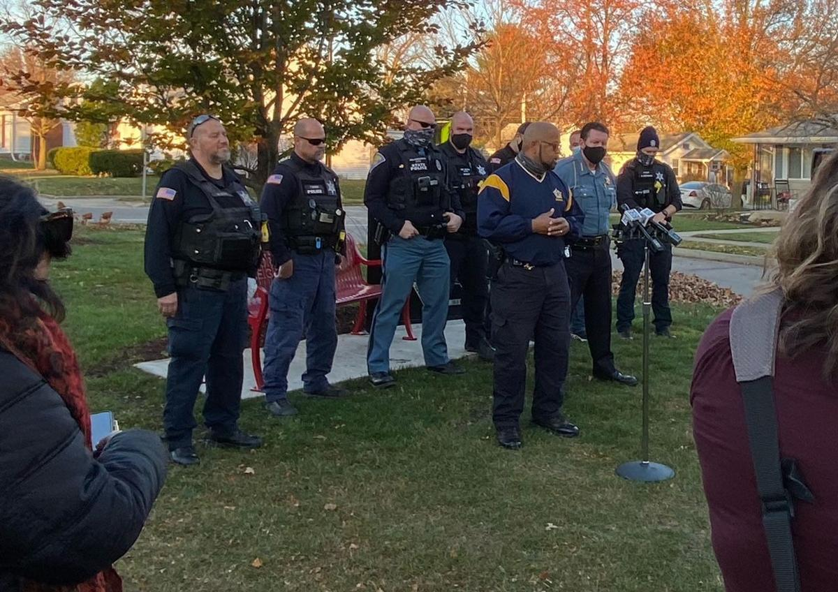 FWPD officers attend dedication for memorial to Officer David Tinsley