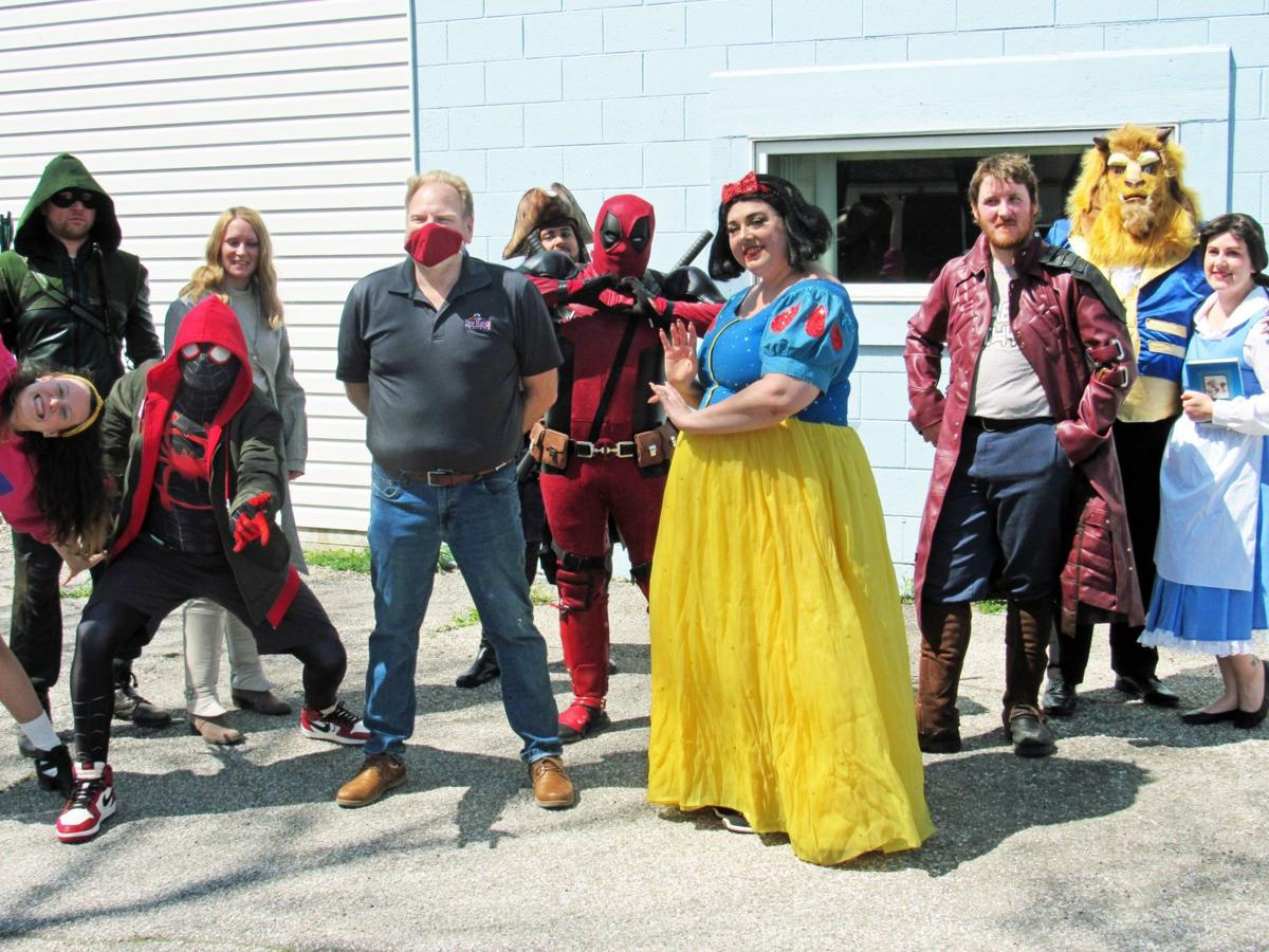 Superheroes visit New Haven