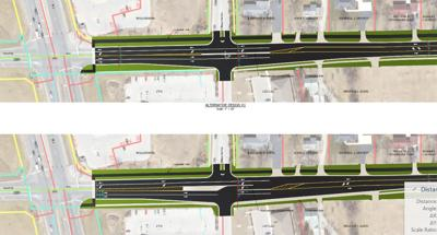Mossy Oak Run and Carroll Road intersection designs