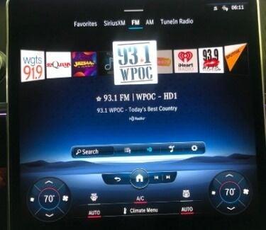 HD Radio dashboard