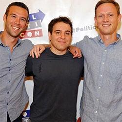 Jon Favreau, Jon Lovett and Tommy Vietor