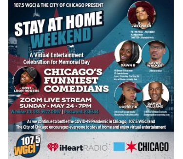 WGCI Stay at Home Weekend