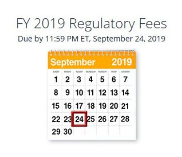 FCC Fees due date 2019