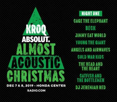Kroq Acoustic Christmas 2020 KROQ Almost Acoustic Christmas' Night One Lineup Announced