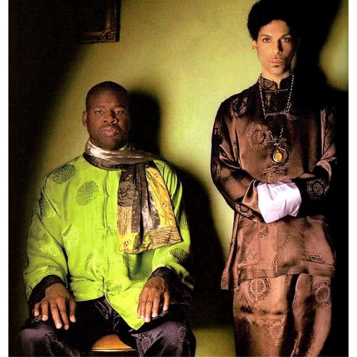 Prince (right) and John Blackwell, Jr. in Japan in 2004. Photo by Afshin Shahidi.jpeg