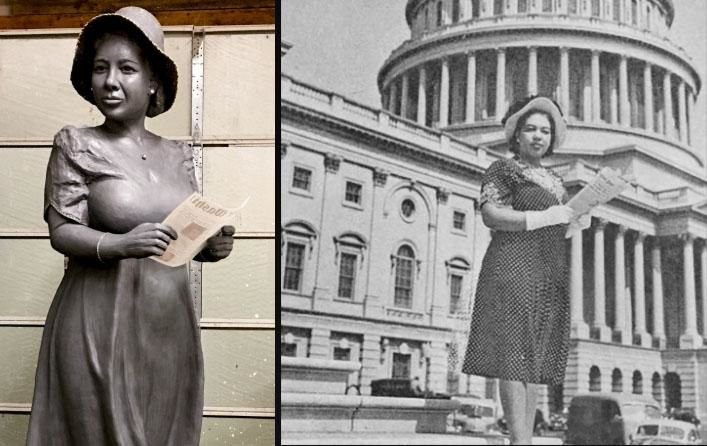 First African-American to cover the White House and Congress: Alice Allison Dunnigan statue unveiled at the Newseum