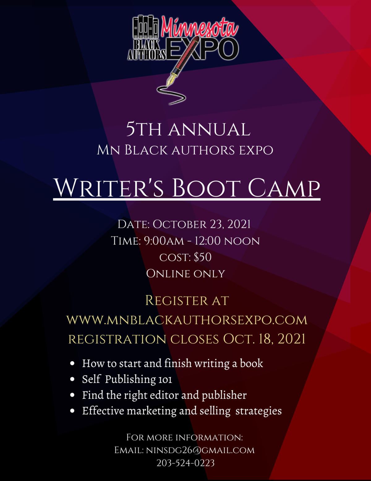Minnesota Black Author Expo (4 x 6 in) (Poster) (8.2 x 11 in) (8.5 x 11 in)