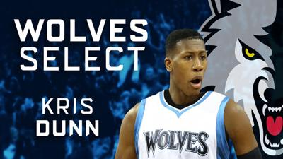 Timberwolves select guard Kris Dunn with the fifth overall pick in the 2016 NBA Draft