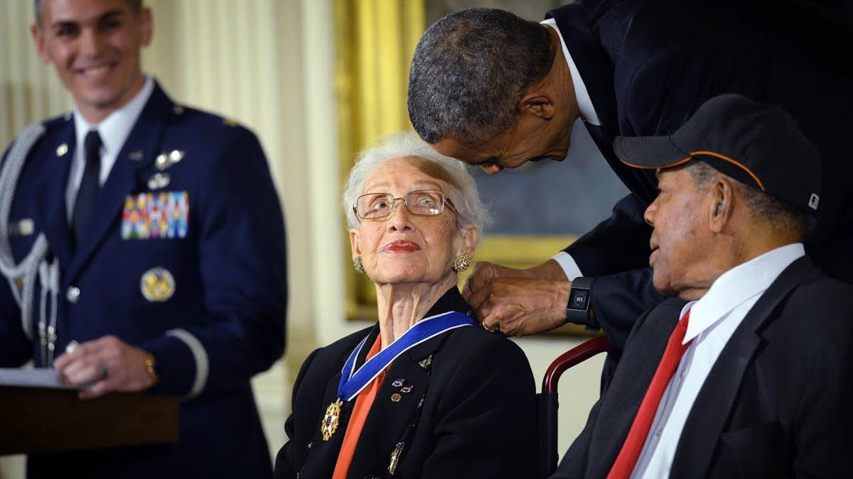 Katherine Coleman Johnson Pres. Barack Obama (YouTube).jpg