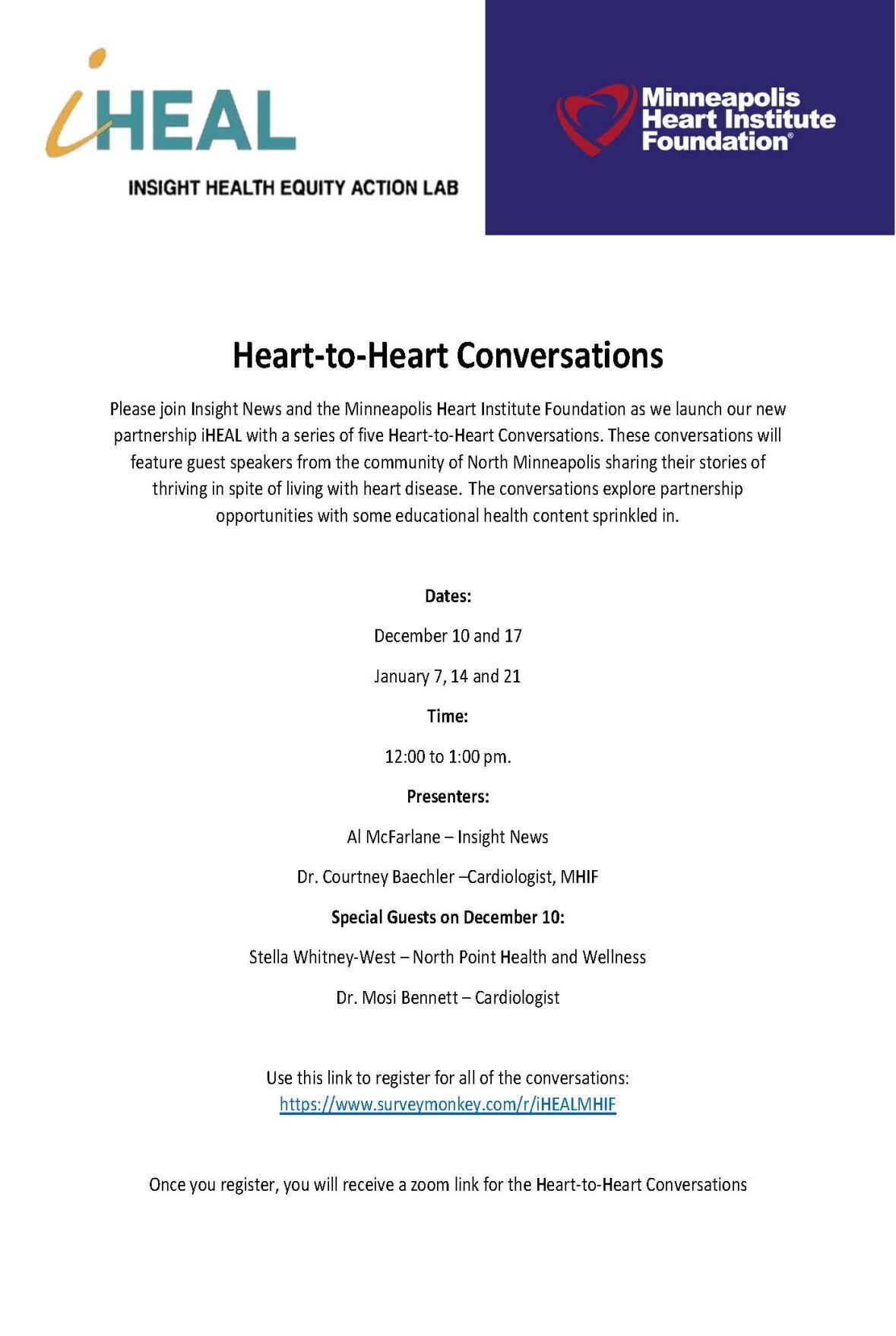 Dual Logo Heart to Heart Conversations