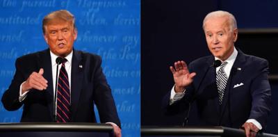 D Trump and J Biden