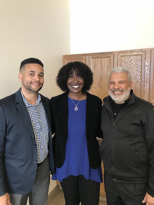 (Left to right) Incoming African American Leadership Forum (AALF) executive director, Marcus Owens, AALF board chair, Dr. Sylvia Bartley and retiring executive director, Jeffrey Hassan.