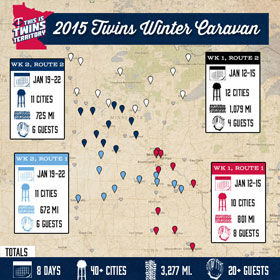Twins Caravan kicks off the baseball year