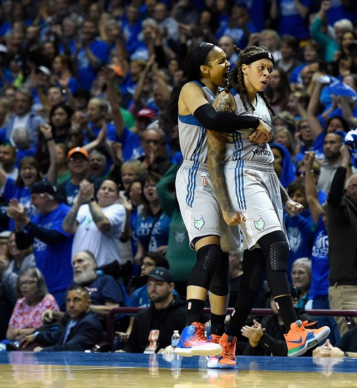 Aggressive play earns Lynx win over Sparks in Game Two of WNBA Finals