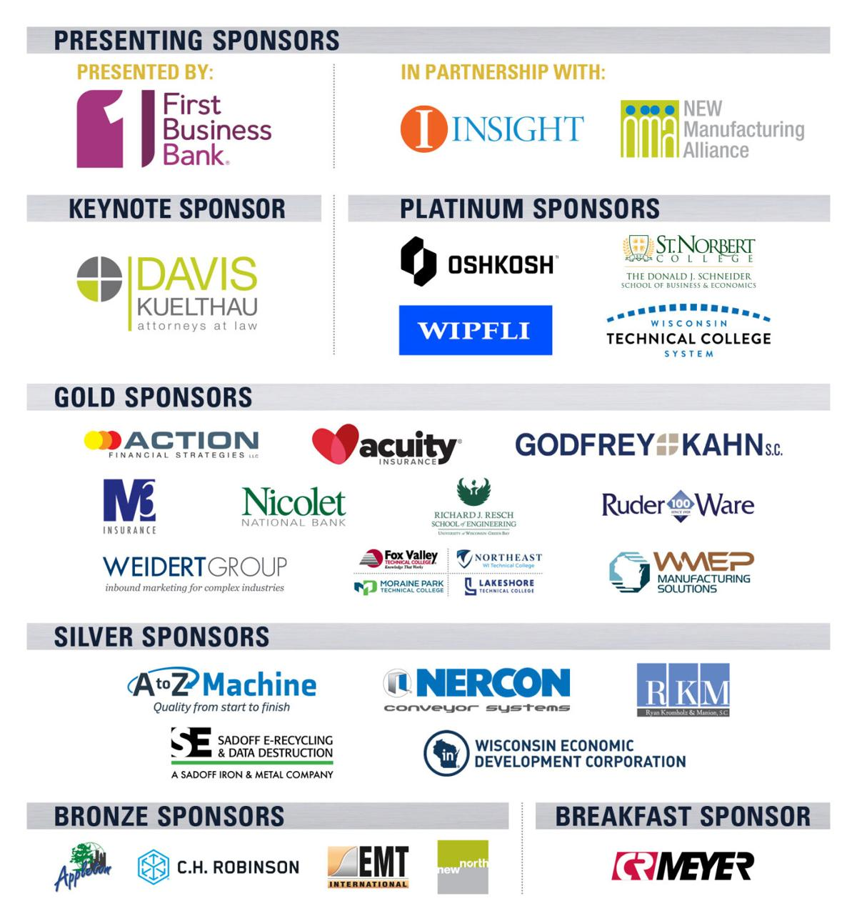 2021 Manufacturing First Expo & Conference Sponsors