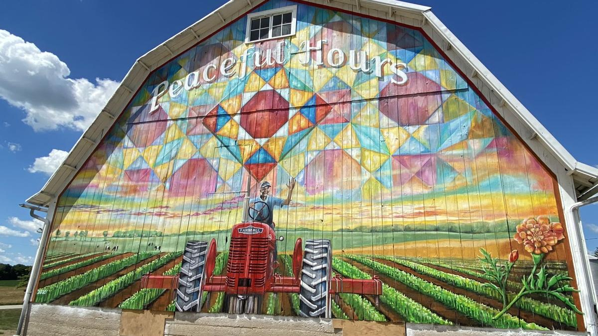 Barn becomes artist's canvas