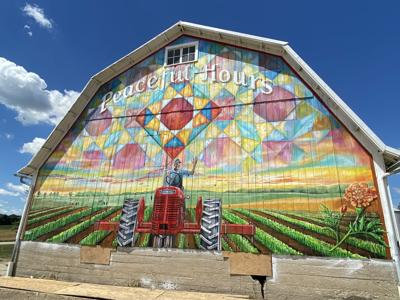 Amy Buchs mural on Don and Betty Hamman farm