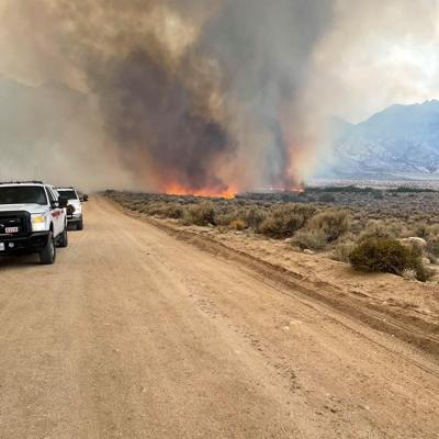 Evacuations initiated Sunday around the Whitney Portal area for the Inyo Creek Fire