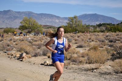 Bishop Union High School girls cross country runner Ashley Fitt