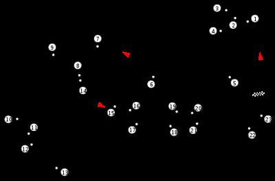 Diagram of Singapore Street Circuit.