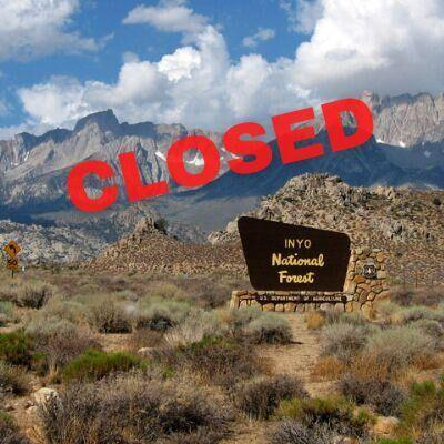 Inyo National Forest entrance