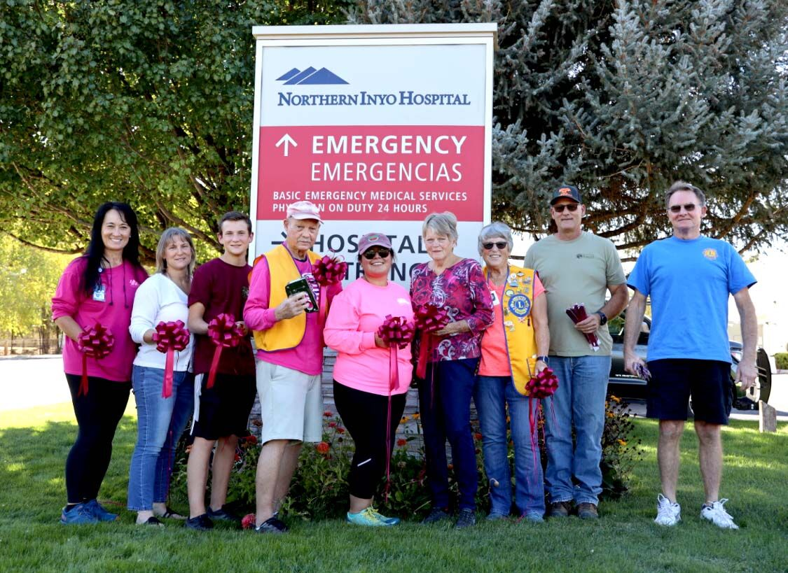 The Bishop Lions Club, Eastern Sierra Cancer Alliance and members of Northern Inyo Healthcare District's team