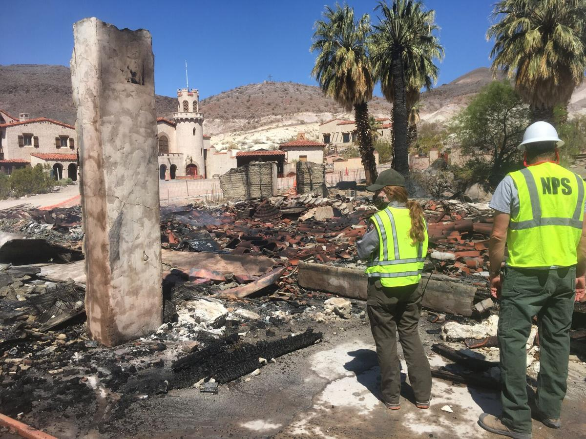 Fire at Scotty's Castle destroys one historic outbuilding, damages another