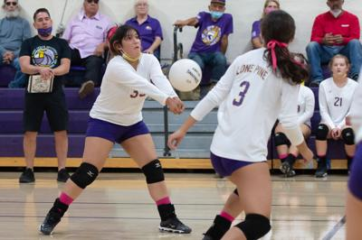 Lone Pine varsity volleyball player Samantha Valdez