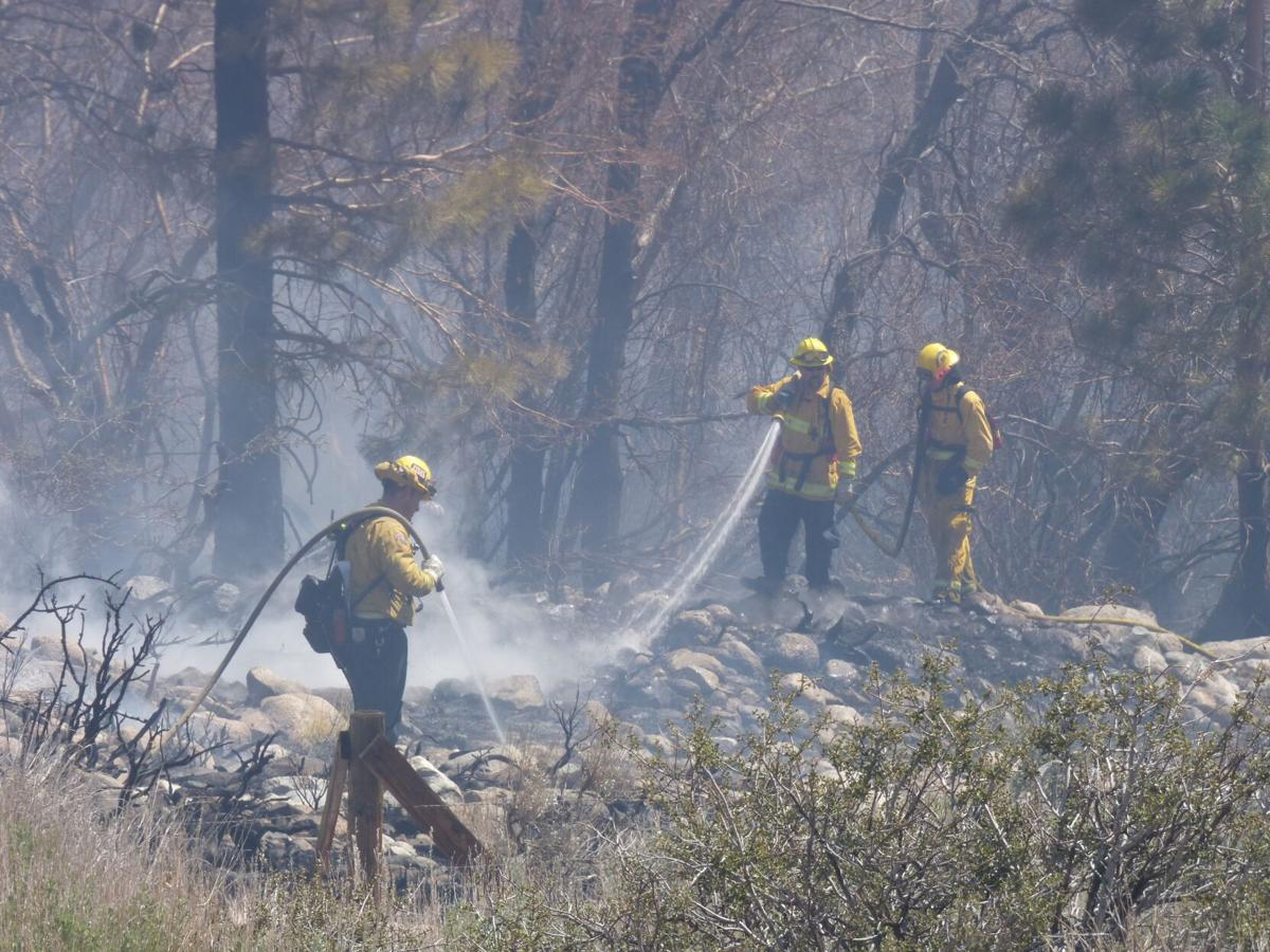 Area firefighters keep blaze  at Seven Pines contained