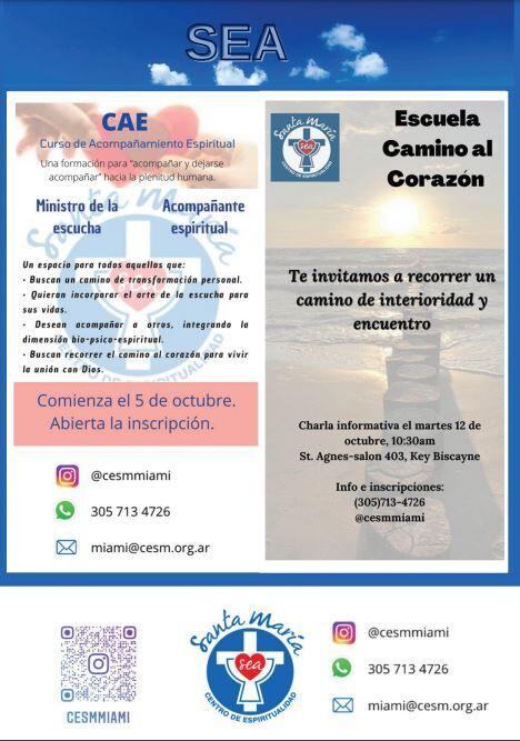 CENTRO DE ESPIRITUALIDAD SANTA MARIA - Dos nuevos cursos