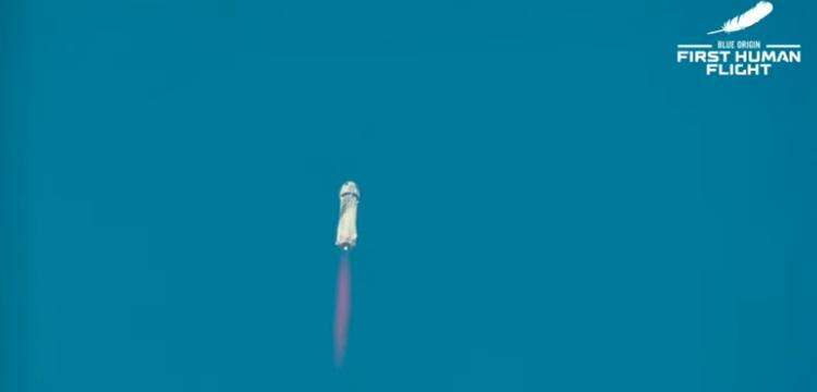 Blue Origin blasts off