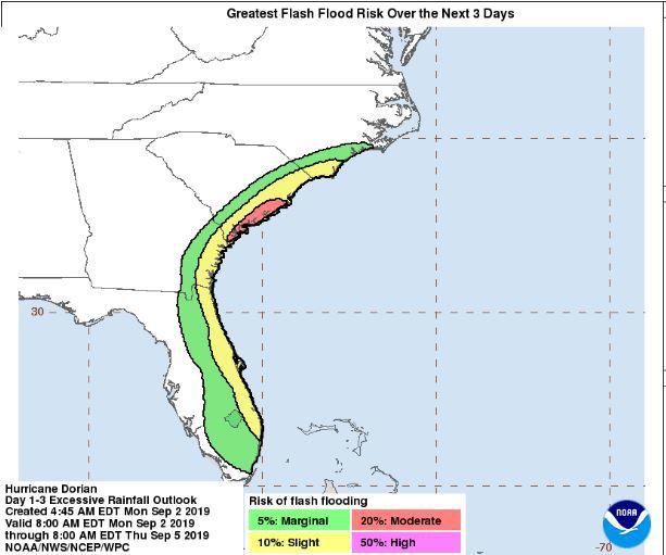 5 pm advisory rain and flooding impact