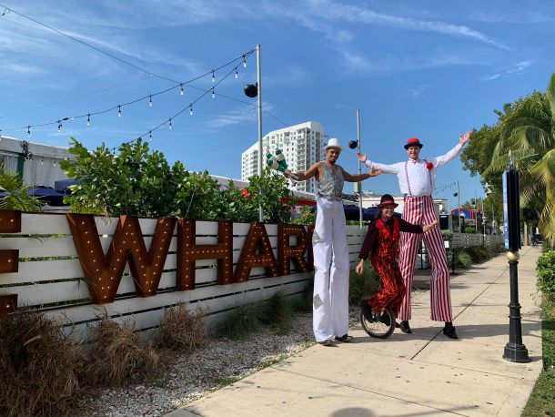 Free Riverside Circus at the Wharf Miami