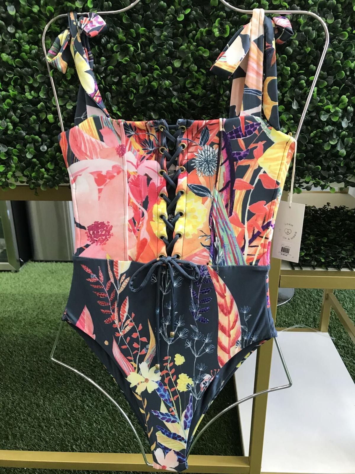 Floral one-piece bathing suit by SOAH – Soul of a Hippie Swimwear
