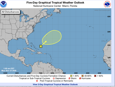 System in Atlantic could develop into Tropical Depression Kappa