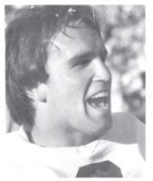 Jorge Portela in college while playing football as a kicker for Auburn University.