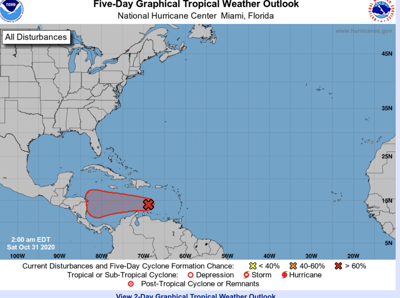 Noaa Expects Wave To Develop Into A Tropical Storm Making The First Time Ever For The Greek Alphabet S 7th Letter Eta News Islandernews Com