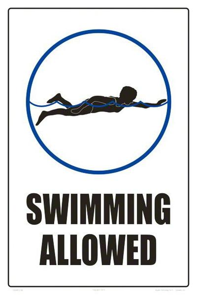 Swimming ban lifted