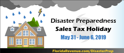 2019 Disaster Preparedness Sales Tax Holiday