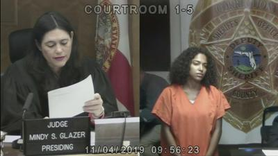 Jessica Fuentes, charged in fatal Rickenbacker crash appears before Judge Glazer