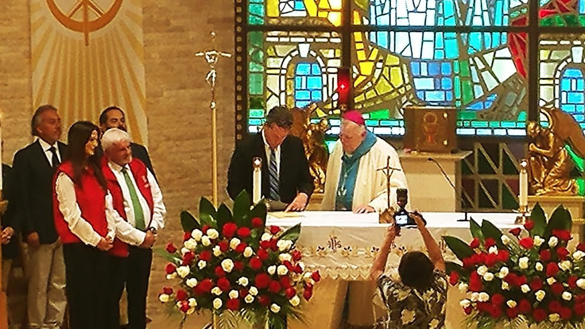 The Consecration Acknowledgement is signed