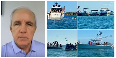 """Miami-Dade Mayor Gimenez issues order disallowing """"rafting"""" for partying on Biscayne Bay"""