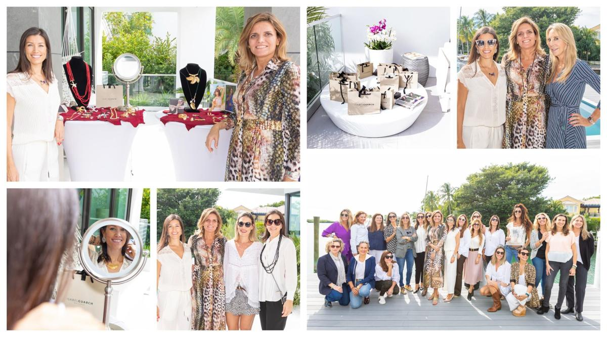 Isabel Guarch, jewelry designer to the Queens visits Key Biscayne